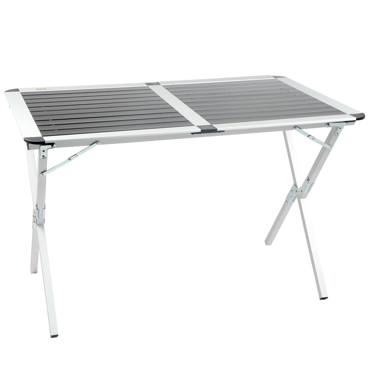 Mesa de camping waterdor aluminio reforzada tba401 1990 for Mesa de camping plegable de aluminio
